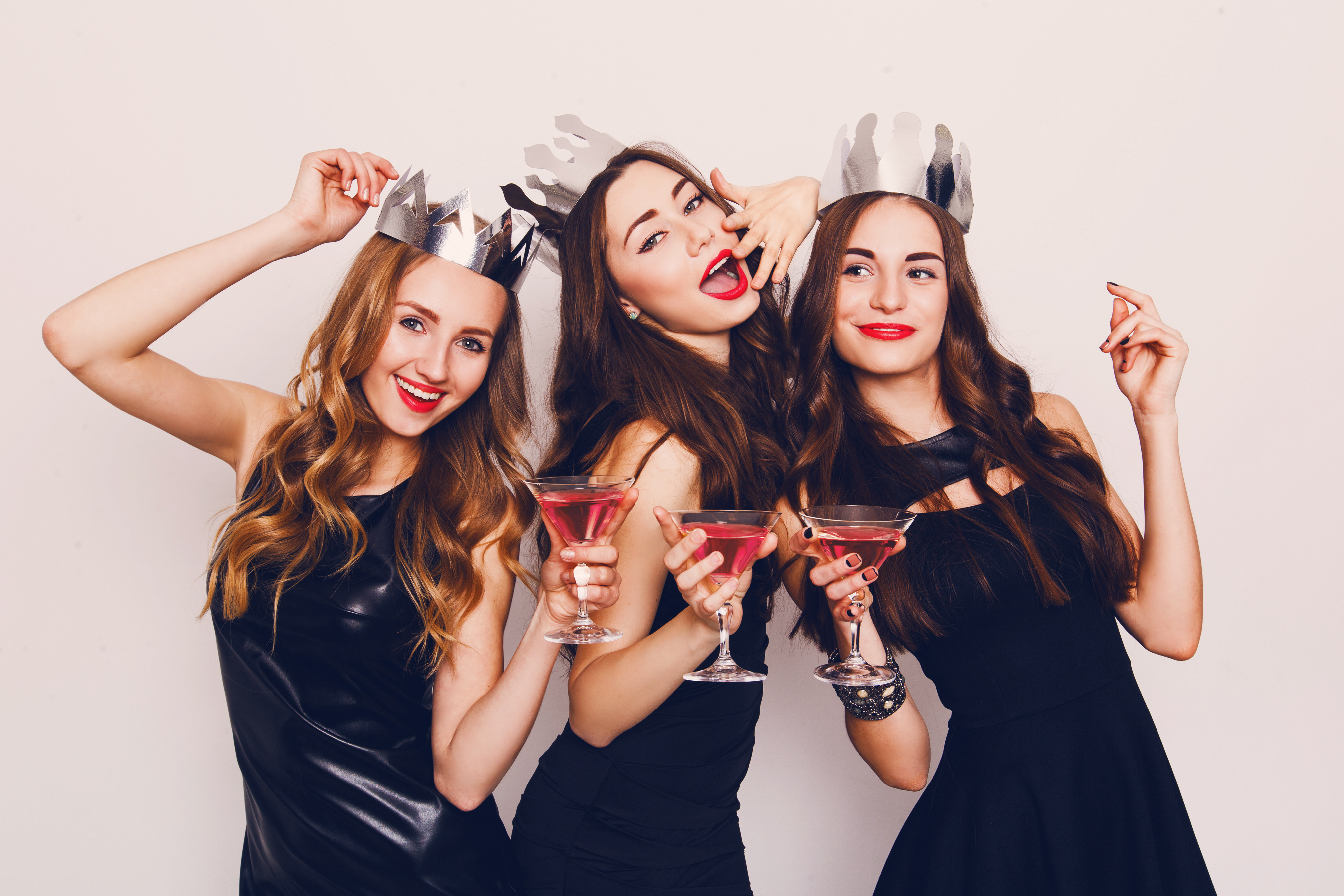 three girls in party